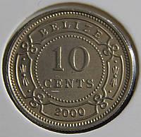 Монета Белиза. 10 центов 2000 г.