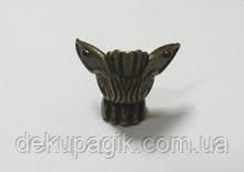 Ножка декоративная-13, бронза, 4,0х4,2см, металл.