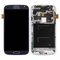 Дисплей для Samsung I9505 Galaxy S4 + с сенсором (тачскрином) и рамкой Blue