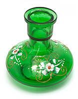 Колба для кальяна стекло зеленая 13,5х13х13см d-4см (29655B)