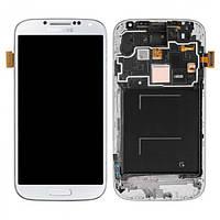 Дисплей для Samsung I9505 Galaxy S4 + с сенсором (тачскрином) и рамкой White