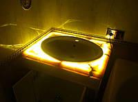Столешницы для ванной из оникса