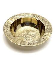 Пепельница круглая бронзовая (d-11,h-2 см)