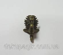 Ножка декоративная-11, бронза, 2,8х3,9см металл.