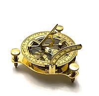 Солнечные часы с компасом бронзовые 12х12х4см (26756)