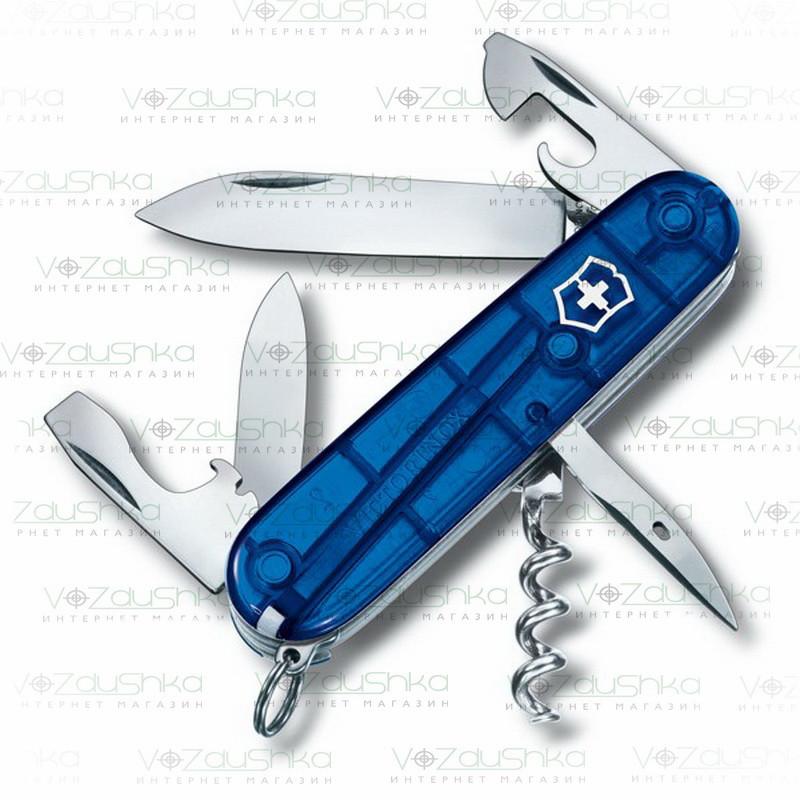 Нож Victorinox Spartan 1.3603 синий прозрачный, 13 функций