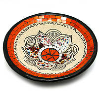 """Тарелка терракотовая с мозаикой """"Лотос"""" (d- 25 h-5 см)"""