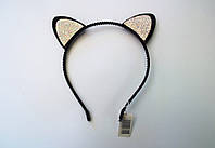Ободок (обруч) ушки кошки стразы