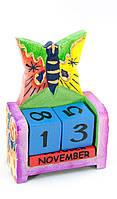 """Календарь настольный """"Бабочка"""" дерево (10х7х4 см)"""
