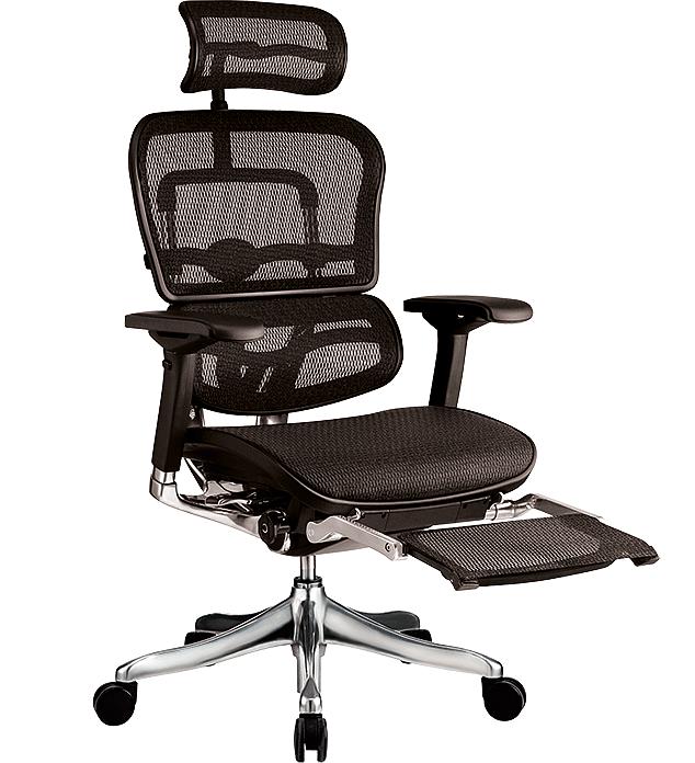 Компьютерное кресло Ergohuman Plus подставкой для ног