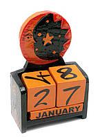 """Календарь настольный """"Луна и Солнце"""" дерево 17х10х5см (29638)"""