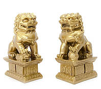 "Собаки Фу пара каменная крошка ""бронза"" 10,5х6х4см (20604)"