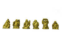 Хотеи набор 6шт каменная крошка желтые h-3см коробка 18х3,5х2см (30100)