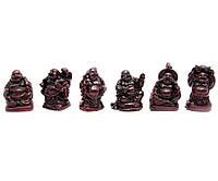 Хотеи набор 6шт коричневые каменная крошка h-3см коробка 18х3,5х2см (29592)