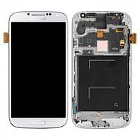 Дисплей для Samsung I9500 Galaxy S4 + с сенсором (тачскрином) и рамкой White