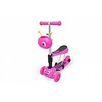 Самокат Maraton Scooter 3 в 1 Кузнечик розовый