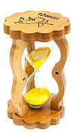 Часы песочные в бамбуке 14,5х8,5х5,5см (29515)