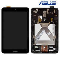 Дисплейный модуль (дисплей + сенсор) для Asus MeMO Pad 8 ME180A, в рамке, черный, оригинал