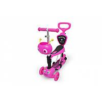 Самокат Maraton Scooter 5 в 1 Кузнечик розовый