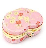 Шкатулка для украшений с зеркальцем розовая 8х7х3,5см (29722B)