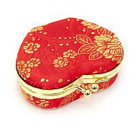 Шкатулка для украшений с зеркальцем красная 8х7х3,5см (29722L)