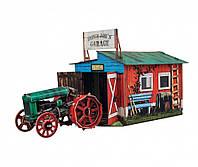 Картонная модель Трактор и гараж 371 УмБум