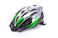 Шлем VK Raven серебристо-зеленый, размер 58-61 CM