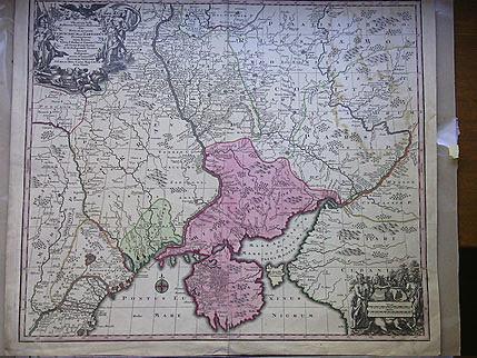 Карта Украины 1740-е годы (Turcicarum et Tartaricum)
