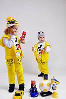Костюм Детский двунитка тройка Микки-Маус жёлтый (девочка и мальчик)