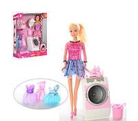 Кукла Defa с нарядами, стиральной машинкой и аксессуарами, свет, звук
