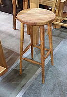 Табурет барный дубовый Round bar stool GOOD WOOD