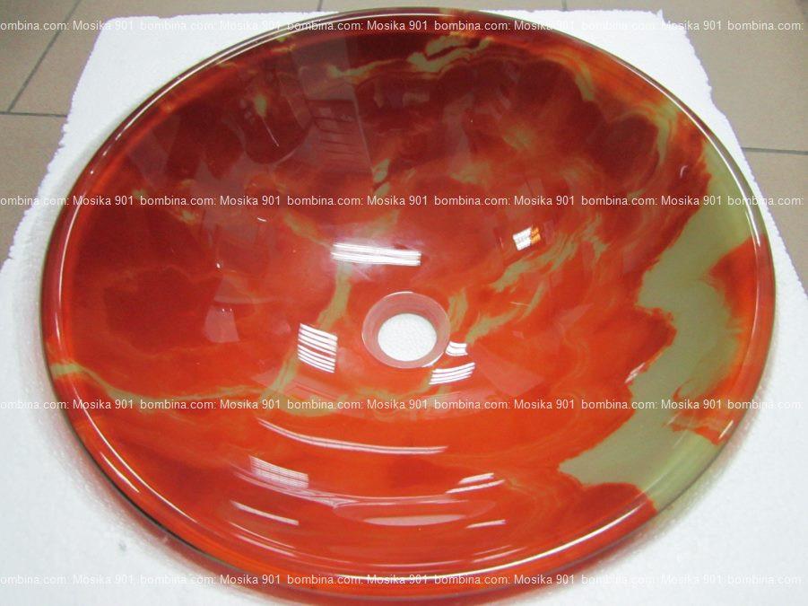 Умывальник стеклянный круглый 420 мм (HR 3305)