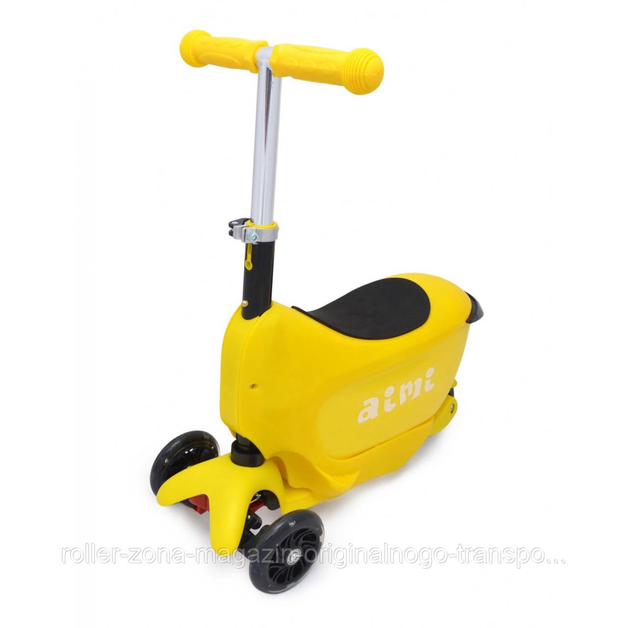 Самокат Maraton Scooter mini 2-go желтый
