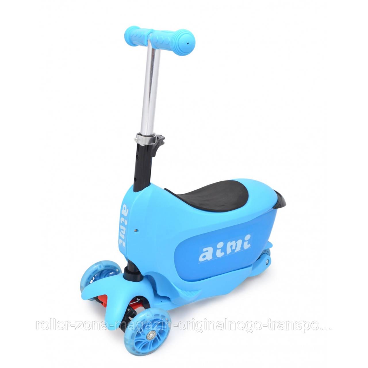 Самокат Maraton Scooter mini 2-go голубой