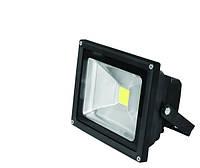 Прожектор EUROELECTRIC LED COB черный 20W 6500K classic (LED-FL-20(black))