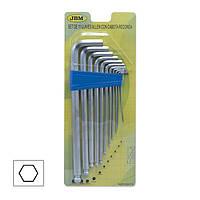 Набор шестигранных Г-образных ключей 275 мм. 11 шт. JBM
