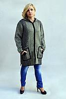 Зимняя женская куртка с оригинальными накладными карманами