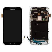 Дисплей для Samsung I9500 Galaxy S4 + с сенсором (тачскрином) и рамкой Black