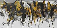 "Картина акрилом ""Волки"""