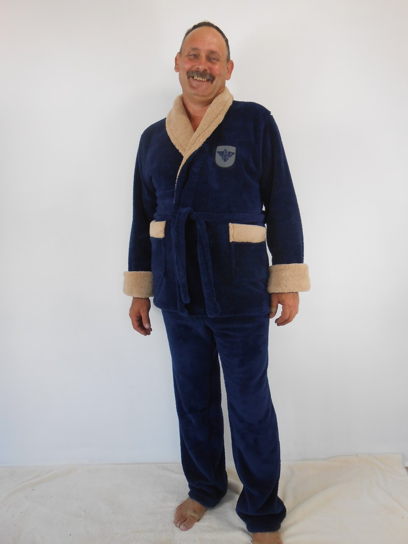 d32352deac1 Мужской теплый домашний махровый костюм  продажа