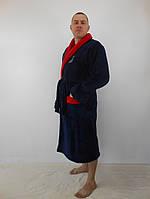 Мужской махровый халат с шалевым воротником