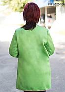 Женский кардиган прямого силуэта цвет салатовый размер 52-58, фото 2