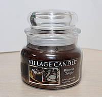 """Ароматическая свеча в стекле Village Candle """"Десерт Брауни"""". 315 гр/ 55 часов"""