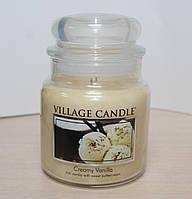 """Ароматическая свеча в стекле Village Candle """"Ваниль"""". 455 гр/ 105 часов"""