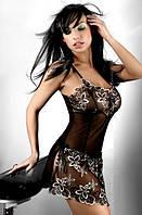 Красивая черная сорочка с вышивкой Livia corsetti Hera