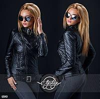 Куртка женская / стеганная экокожа / Украина, фото 1