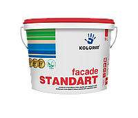 Facade Standart А латексная  краска на акрилатной основе для наружных работ  Украина, 4.5