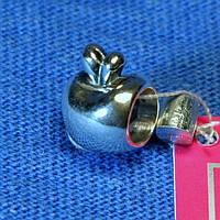 Серебряная бусина Яблоко 3002