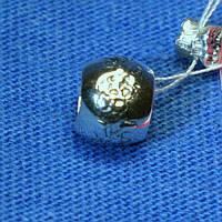 Серебряная бусинка с иероглифами 3004