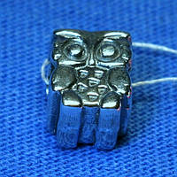Серебряная бусина-шарм Сова 3006
